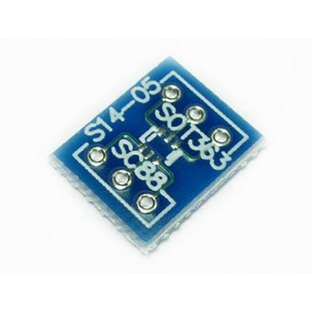 SOT363,SC88/SOT26,SC88 to SIP3x2/DIP6 Convert PCB Adapter