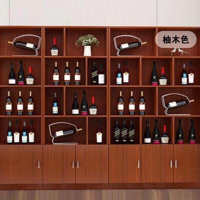 ●□ชั้นวางไวน์ตู้โชว์เหล้าตู้ไวน์ตู้โชว์ชั้นวางไวน์ตู้โชว์ตู้ไวน์ไม้ชั้นวางของ