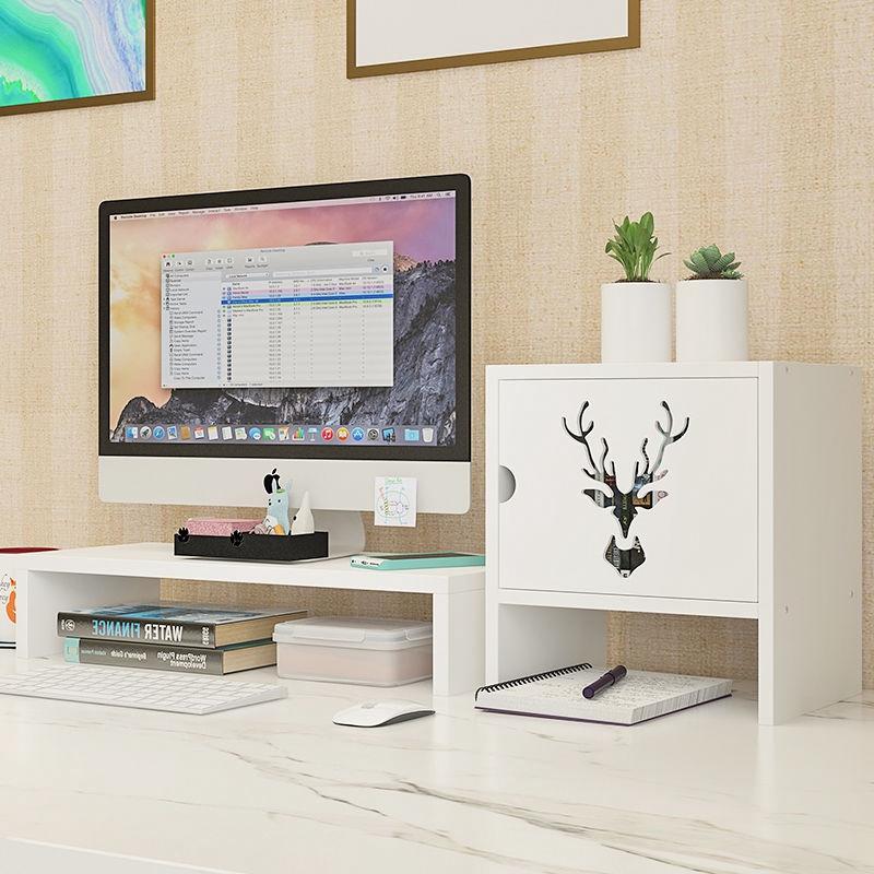 Computer monitor screen heightened base, desktop keyboard multi-layer rack,