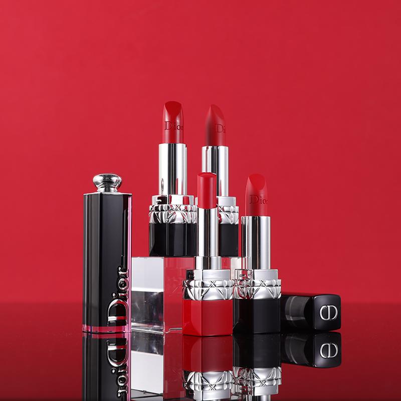 ュ∯คิ้ว Dior Dior Lipstick 999 Velvet Liyan Blue Gold Matte Moisturizing Red Tube 740/520/888 Brand ของแท้
