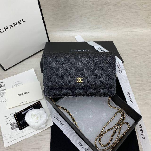 Chanel woc Grade original หนังเเท้  Size 19 อุปกรณ์ครบเซ็ตตามภาพ