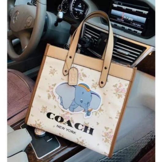 กระเป๋าผ้าโคช Coach Dombo Bag โคชช้างขนาด 12 นิ้ว วัสดุผ้าcanvas กระเป๋าแฟชั่นผู้หญิง2021