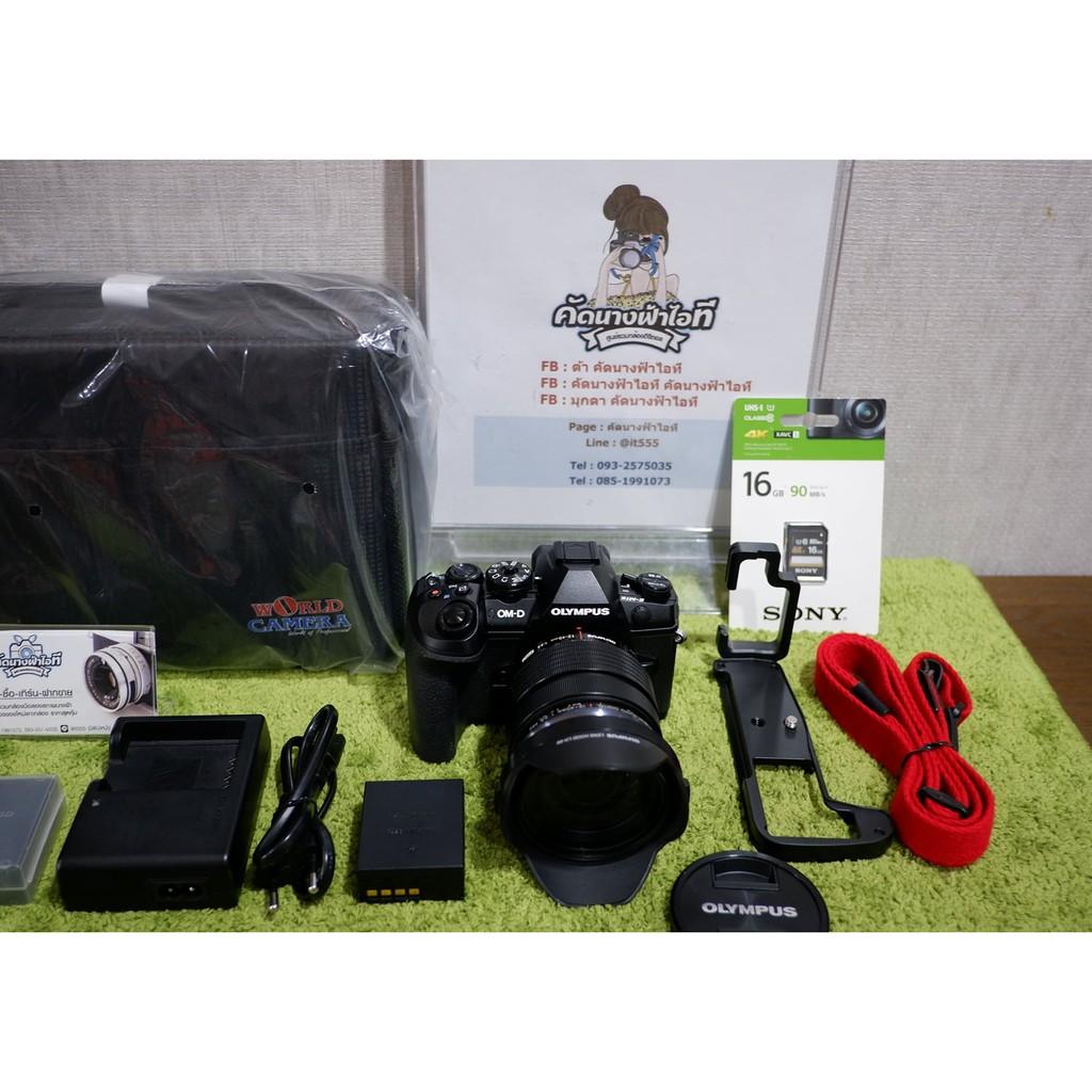 ขายกล้องOlympus OM-D E-M1 Mark II+เลนส์Olympus Lens M. Zuiko Digital ED 12-40 mm. F2.8 PRO สภาพสวยตัวกล้องสภาพ ไม่มีรอยต