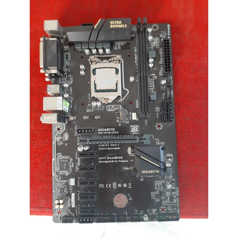 Gigabyte H110 D3A 1151 ddr4 6gpu +cpu g3930