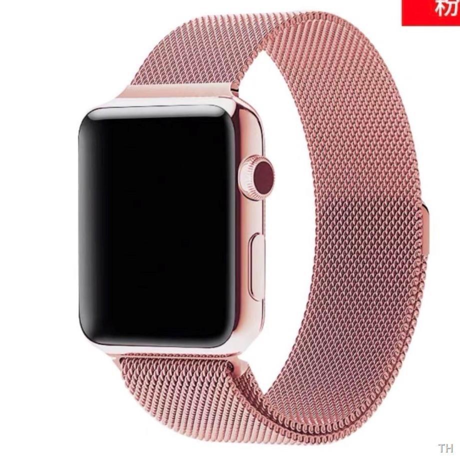 การเคลื่อนไหว☢📣✅💯♨สายเปลี่ยนนาฬิกาข้อมือ AppleWatch Band Milanese Loop Series 1 2 3 4 5 6 44 มม 40 38 42 สาย se 4.7