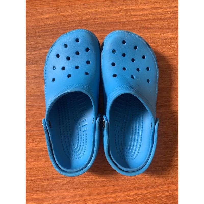 💙💙รองเท้า crocs สีฟ้า มือสอง ของแท้ สภาพดีค่ะ สำหรับเด็ก💙💙
