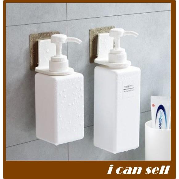ที่แขวนขวดแชมพู ขวดครีมนวดผม เจลล้างมือ สบู่ แบบหัวปั๊ม ไม่ต้องเจาะ (ics-171)