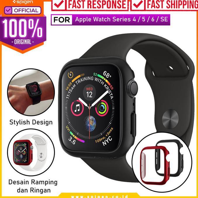 เคสนาฬิกาข้อมือสําหรับ Apple Watch 44mm / 40mm Spigen Thin Case - 44mm, สีดํา