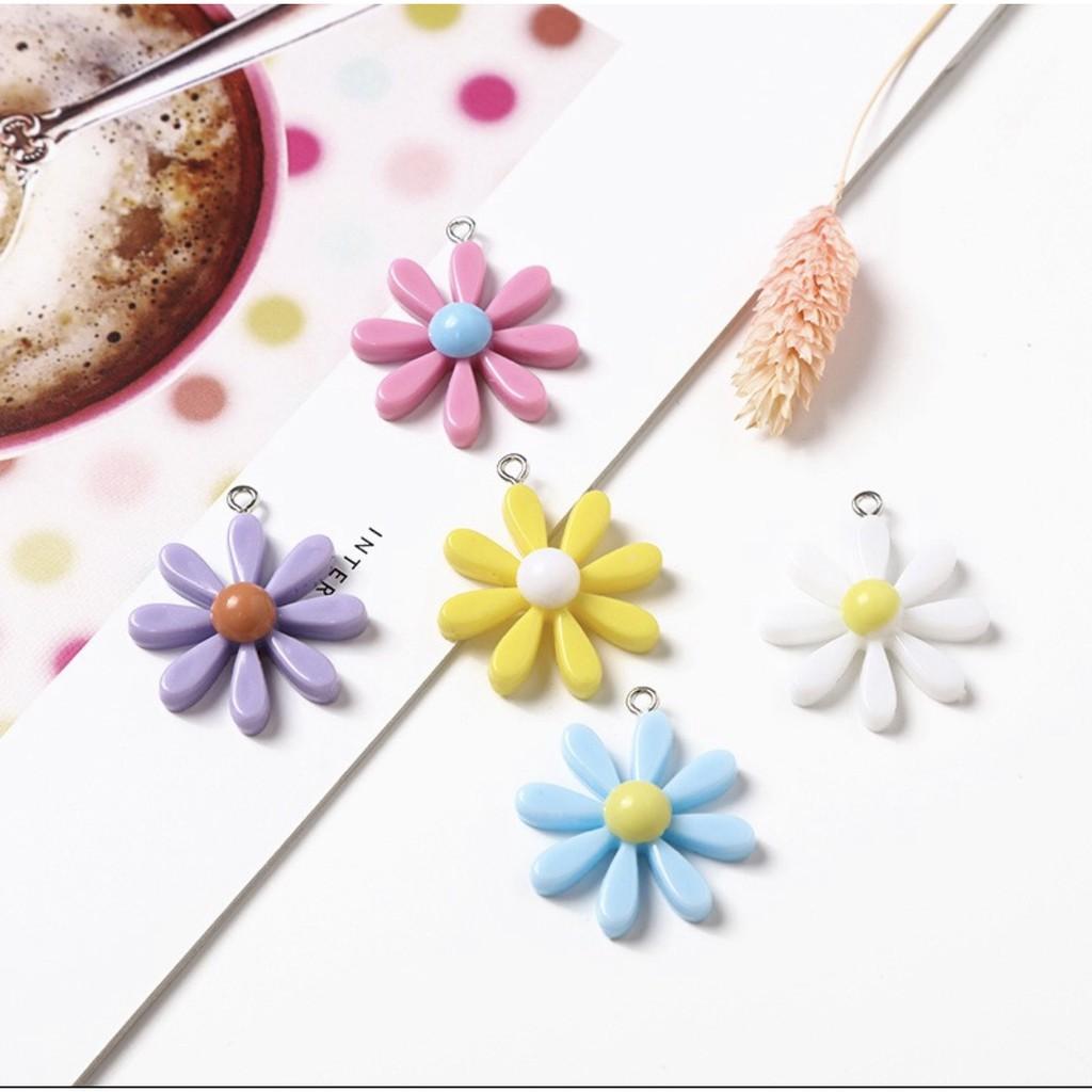 สร้อยคอทอง⌵ จี้เรซิ่นรูปดอกไม้ ดอกใหญ่ 2-3 cm จี้ห้อยคอแฟชั่น ราคาต่อหนึ่งชิ้น พร้อมส่ง 🇹🇭