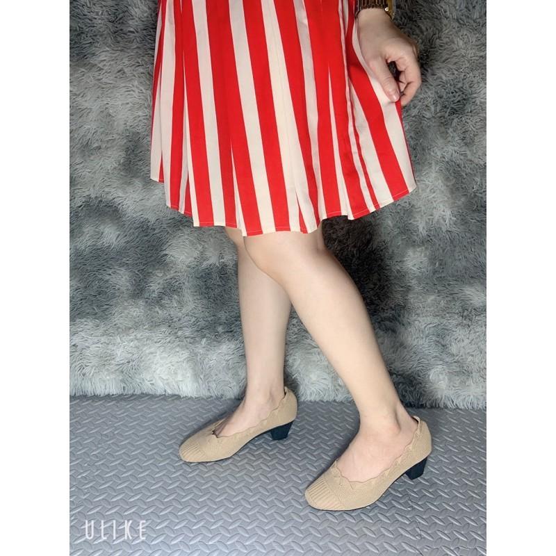 รองเท้าคัชชูผู้หญิง รองเท้าคัชชูผ้าเรียบหรู