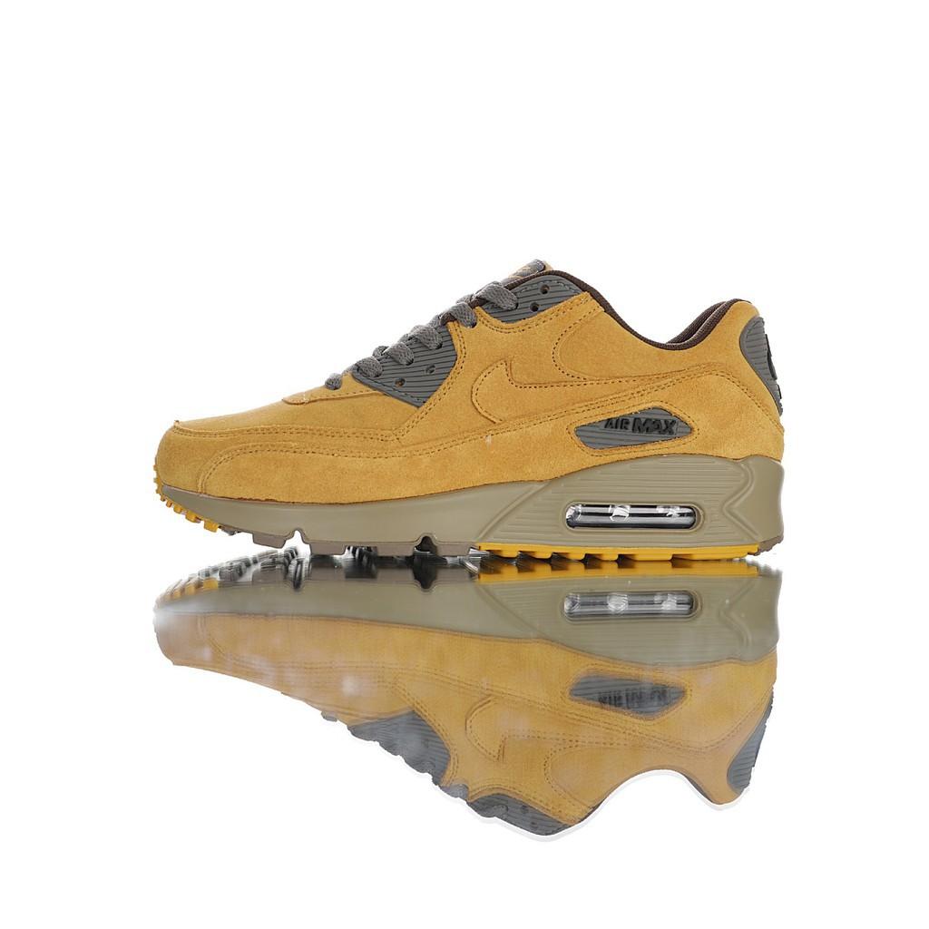 """Nike Air Max 90 """"Winter Flax"""" รองเท้าวิ่งออกกำลังกายจัดส่งฟรี Wild ชายรองเท้าต้นฉบับ"""