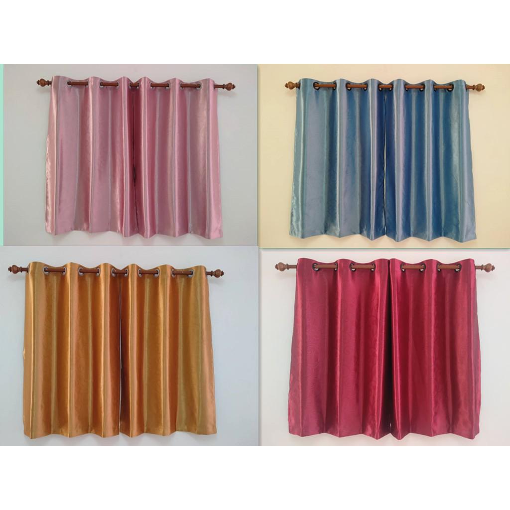ผ้าม่านหน้าต่าง ผ้าม่านสำเร็จรูป ม่านตาไก่ หน้าต่าง เมตร กันแสง กันยูวี 80%🎁🎁🎁
