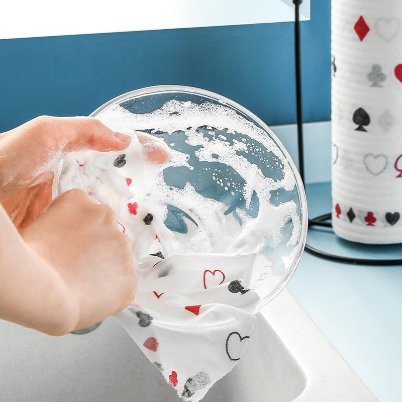 มาพร้อมกับน้ำยาล้างจานที่ใช้แล้วทิ้งขี้เกียจยาจกเปียกและแห้งห้องครัวแบบ