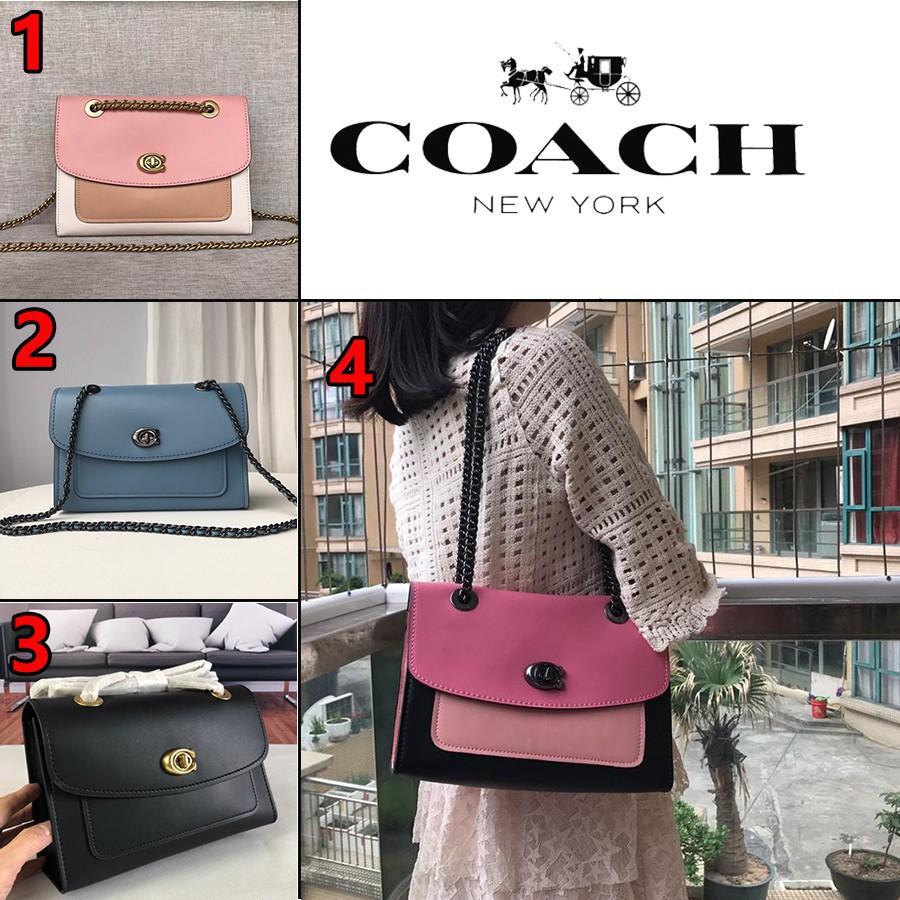 Coach F26852 / 26851 Plain Flip Flap Girls Bag กระเป๋าถือ Coach กระเป๋าสะพายข้างกระเป๋าสะพายข้างกระเป๋าสะพายข้างหนังแกะเ