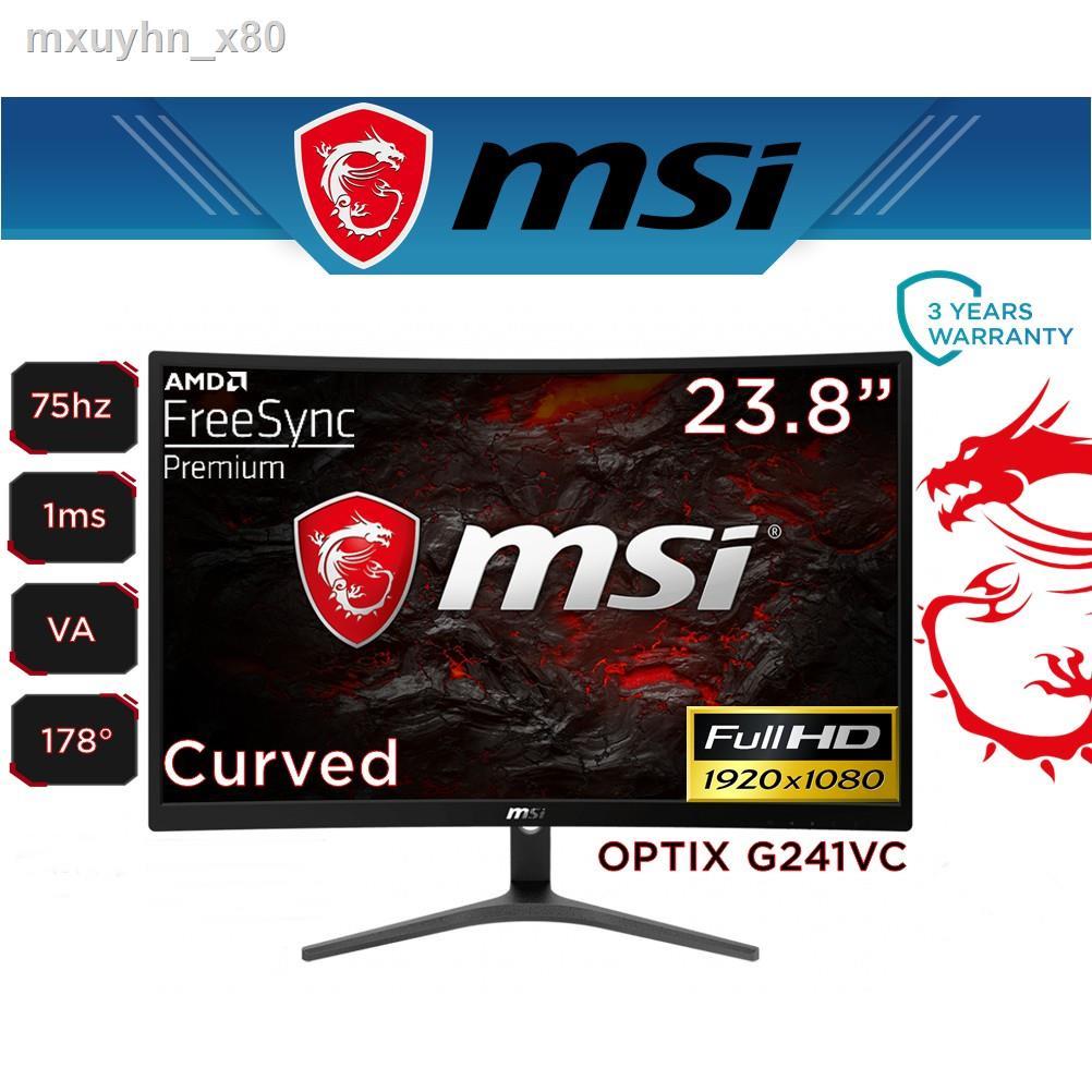 "□❍MONITOR (จอมอนิเตอร์) MSI OPTIX G241VC 23.6"" VA 75Hz Warranty 3 - y"