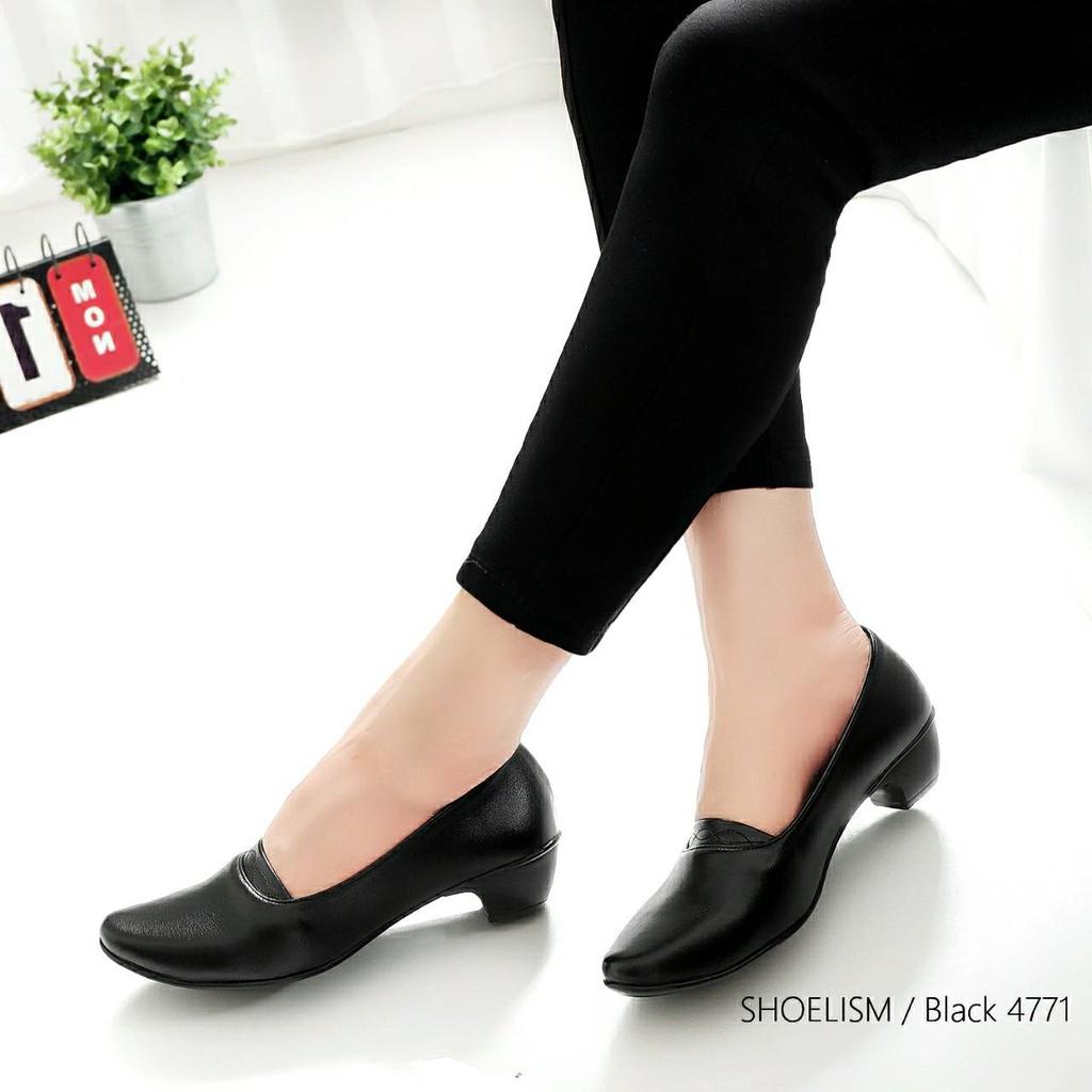 รองเท้าคัชชูดำ4771 มีถึงไซส์ 41