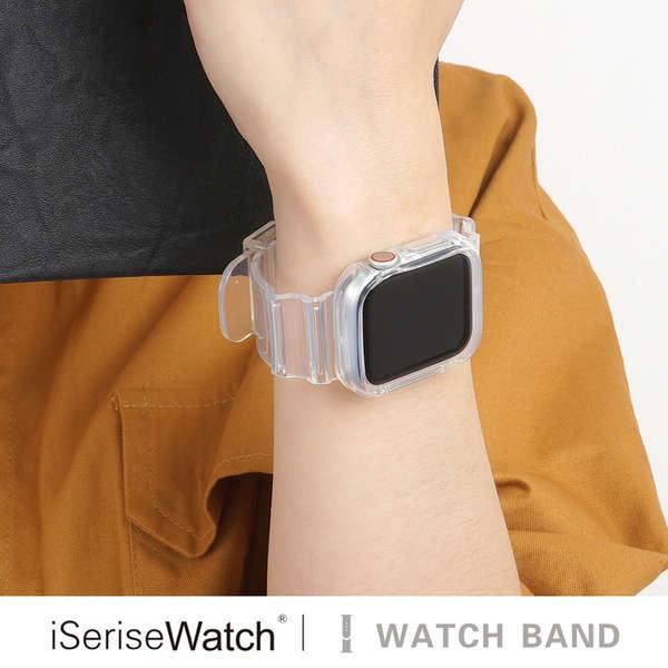 สาย applewatch iserisewatch เหมาะสำหรับสายรัด Apple iwatch6 ธารน้ำแข็งใสสายนาฬิกา Apple applewatch5 / 4 / SE สายรัดแบบบู