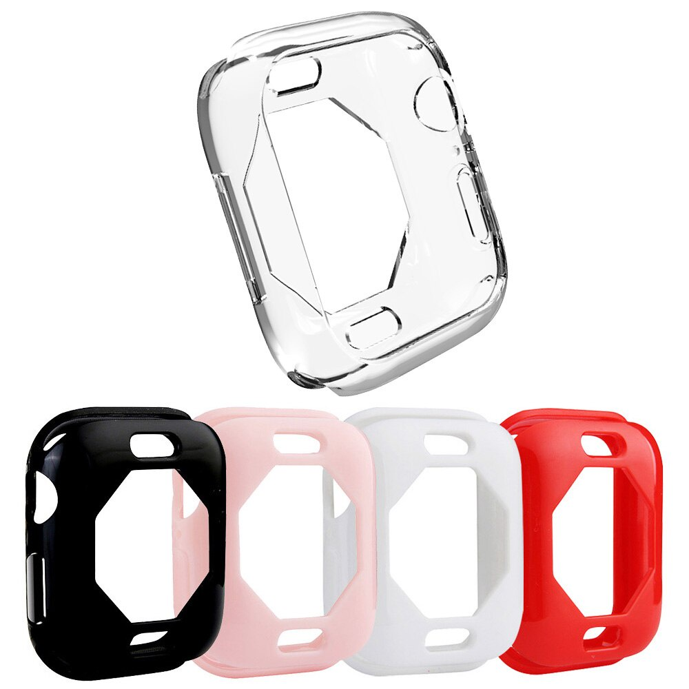 Soft Tpu Wristwatch Case for Apple Watch SE Series 6 5 4 40mm 44mm Protect Cover Black/White/Red/Pink/Clear Bumper Accessories