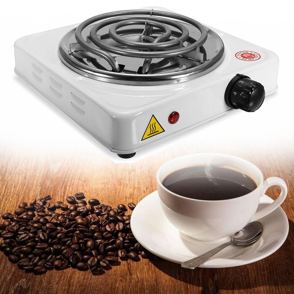 เตาไฟฟ้า1000วัตต์จานร้อนเครื่องปิ้งขนมปังอุปกรณ์พกพาเครื่องอุ่นชากาแฟแบบพกพาเครื่องทำ