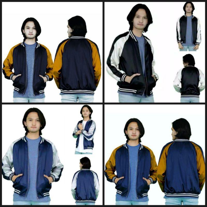 เสื้อแจ็คเก็ตเสื้อเบสบอลลาย Sukajan Bomber Jacket