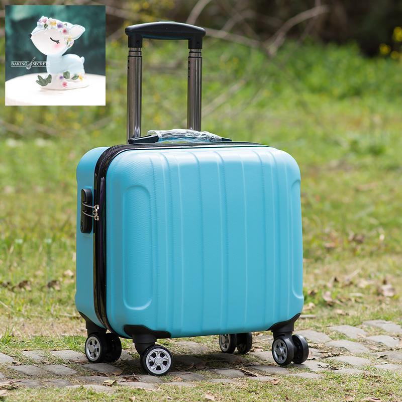 กระเป๋าเช็คอินฤดูใบไม้ผลิและฤดูใบไม้ร่วงกระเป๋าเดินทางใบเล็ก , กระเป๋าใส่รถเข็นขนาดเล็ก, นักเรียน 16 นิ้ว, กระเป๋าเดินท