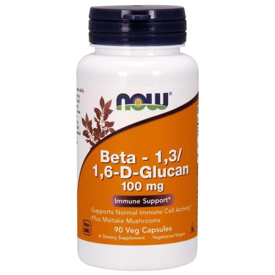 NOW® Foods Beta Glucan Plus Maitake Mushroom 90 แคปซูล [เบต้ากลูแคน ผสมเห็ดไมทาเกะ]