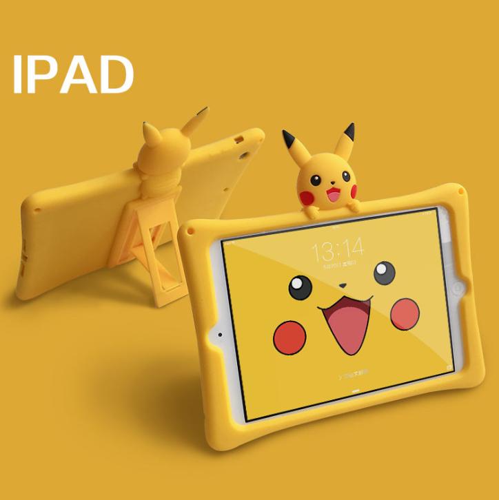 ipad mini 1 2 3 4 5 Case เคส  Cartoon Pikachu เคสซิลิโคน TPU soft  yellow ipadmini4 ipadmini5 mini4 mini5 casing cover
