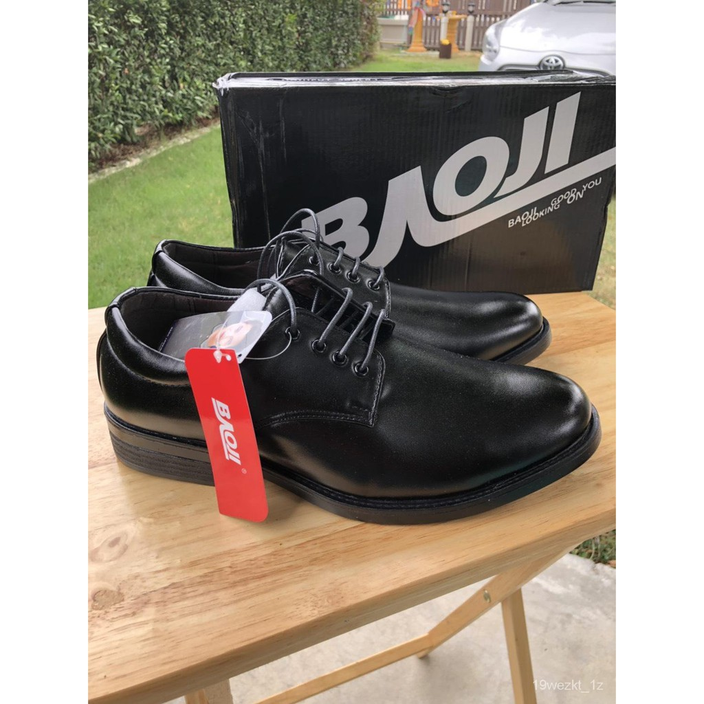 Baoji รองเท้าคัชชู ผู้ชาย รองเท้าคัชชูดำ รองเท้าคัชชูผู้ชาย รุ่น BJ3438 3bLP