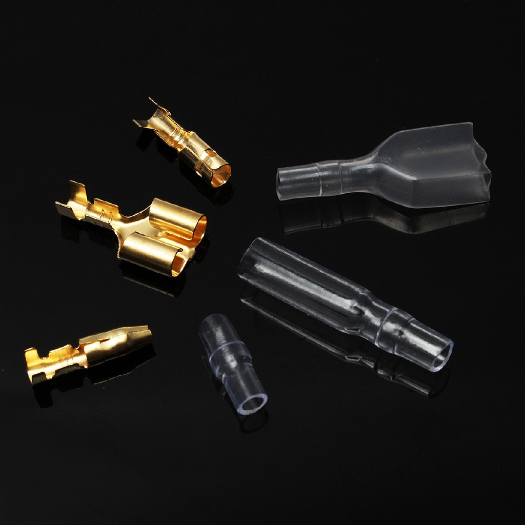 70 x Motorcycle Scooter Bullet Connectors Terminals 3.9mm Male//Female /& Double