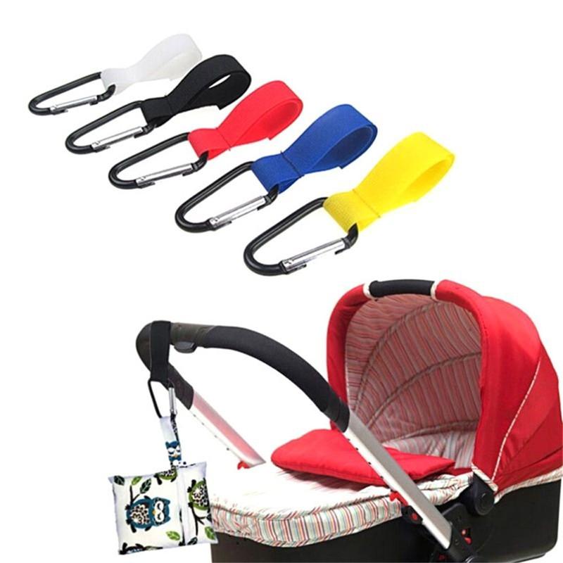 2Pcs Buggy Clip Pram Pushchair Stroller Side Hook Baby Handle Shopping Bag ES
