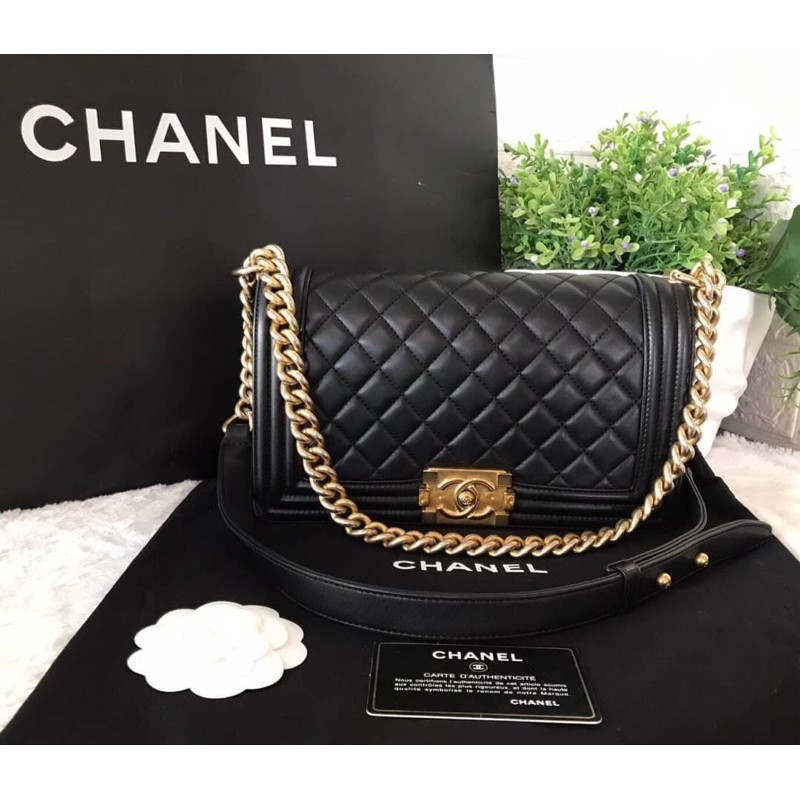 "🇫🇷 USED like New Chanel Boy 10"" Holo 25 Lambskin"