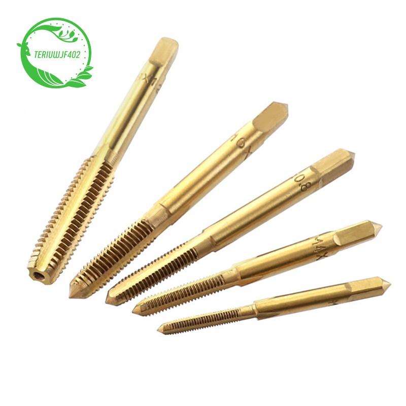 Titanium M3-M8 High Speed Steel Screws Thread Metric Spirals Hands Plug Tap Tool