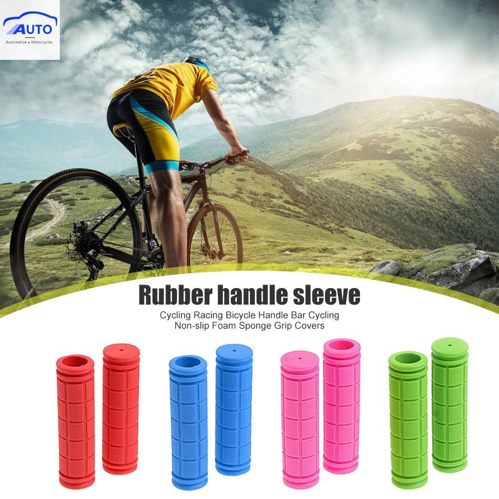 1pair Bike Handlebar MTB Cycling Handlebars Bicycle Grips LOCK-ON Handle Bar