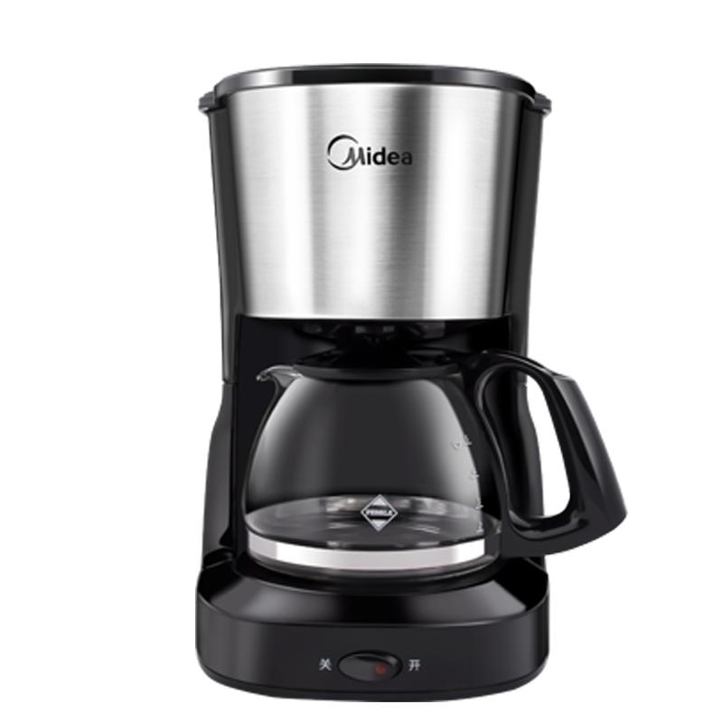 เครื่องทำกาแฟMidea / Midea เครื่องชงกาแฟบ้านขนาดเล็กหม้อกาแฟอัตโนมัติอเมริกันกาแฟหยดชาเบียร์แบบ dual- ใช้