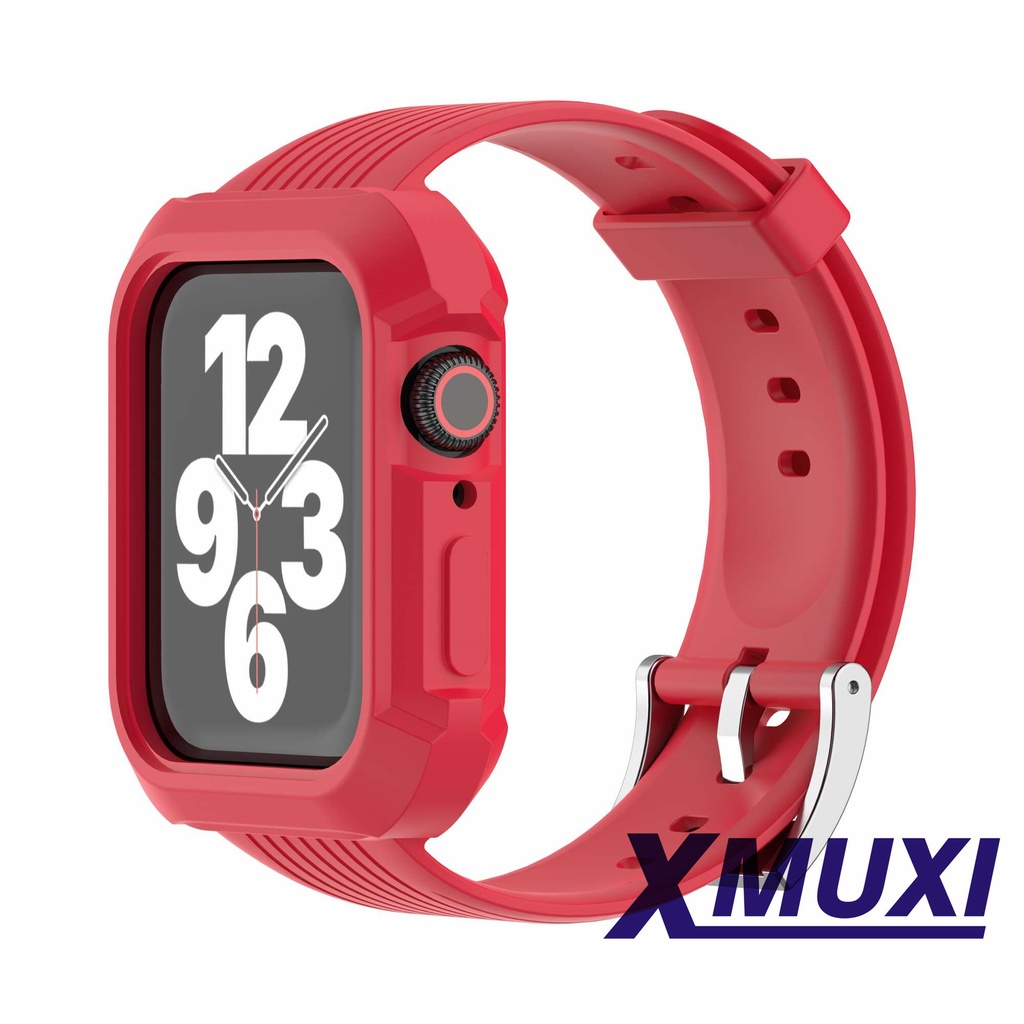 Compatible for Apple Watch Bands Case 40mm/44mm for Men & Women Bumper Sports Wristband Bangle Strap iWatch Series 6 5 4 3 2 81036