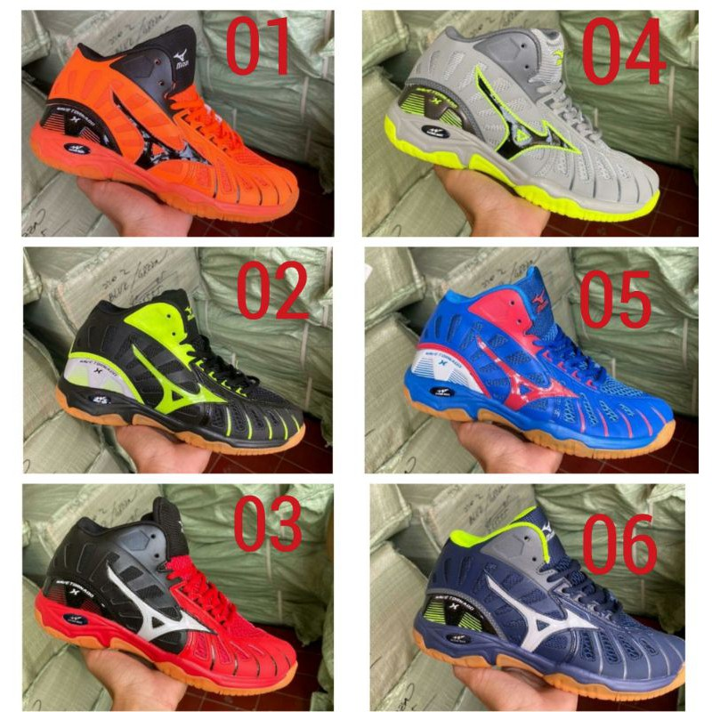 รองเท้าวอลเลย์บอล Mizuno Tornado รองเท้าผ้าใบผู้ชาย