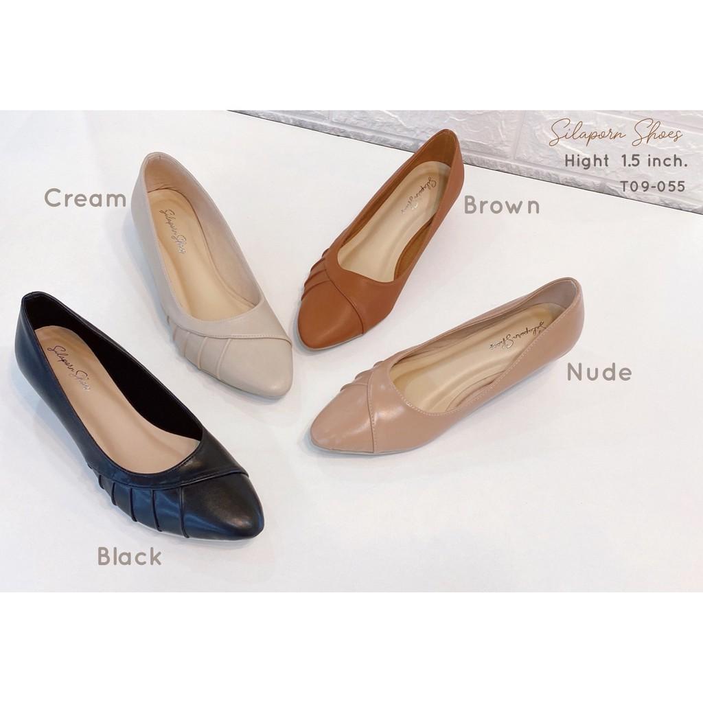 สินค้าพร้อมส่ง!!SilapornShoesรองเท้าคัชชูผู้หญิงT09-055หัวแหลม