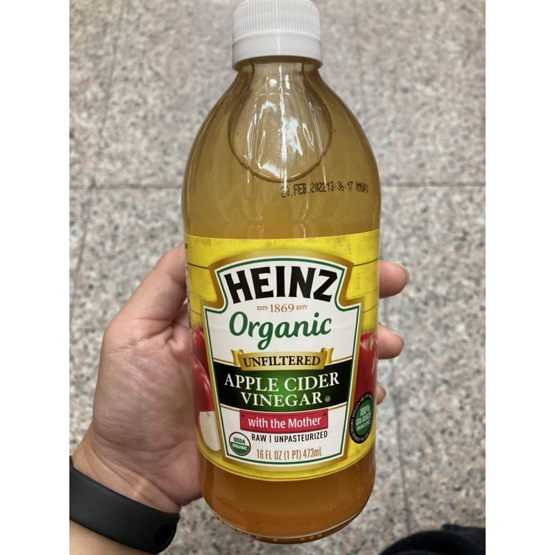 HEINZ Organic Unfiltered Apple Cider Vinegar น้ำส้มสายชูหมัก ไม่กรอง