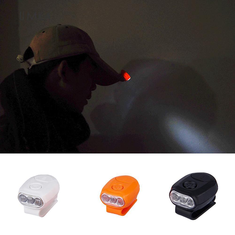 3 LED Headlamp Cap Light 90 Degree Rotatable Bright Clip-on Hat Light Headlamp