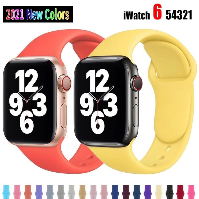 applewatch สายซิลิโคนสำรองเปลี่ยน สําหรับ Apple Watch สาย Series 1/2/3/4/5 สาย สําหรับ Applewatch iWatch สาย 38mm 40mm 4