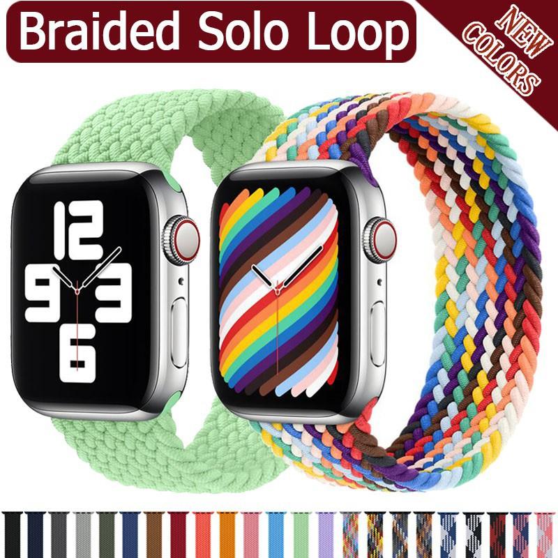 สาย applewatch สายนาฬิกา applewatch สายนาฬิกาข้อมือไนล่อนสําหรับ Apple Watch Band 44 มม . 40 มม . 38 มม . 42 มม .