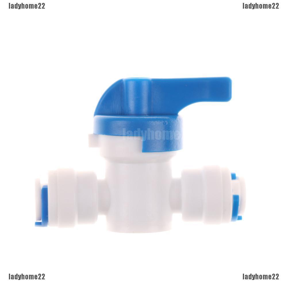 RO Water Reverse Osmosis 1//4/'/' Inline Ball Valve Quick Connect Shut off New