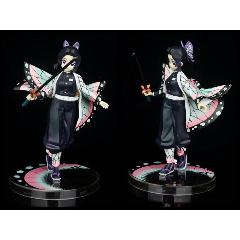 18CM Demon Slayer action figure Kochou Shinobu Scene Boxed Dolls