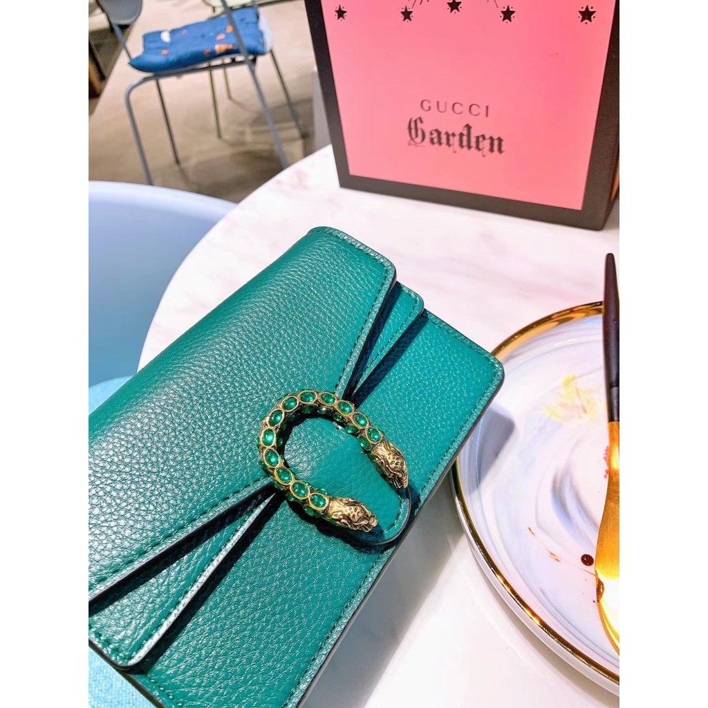✨✨Gucci Dionysus ladies shoulder bag woc mini nano canvas chain messenger bag 20*16CM