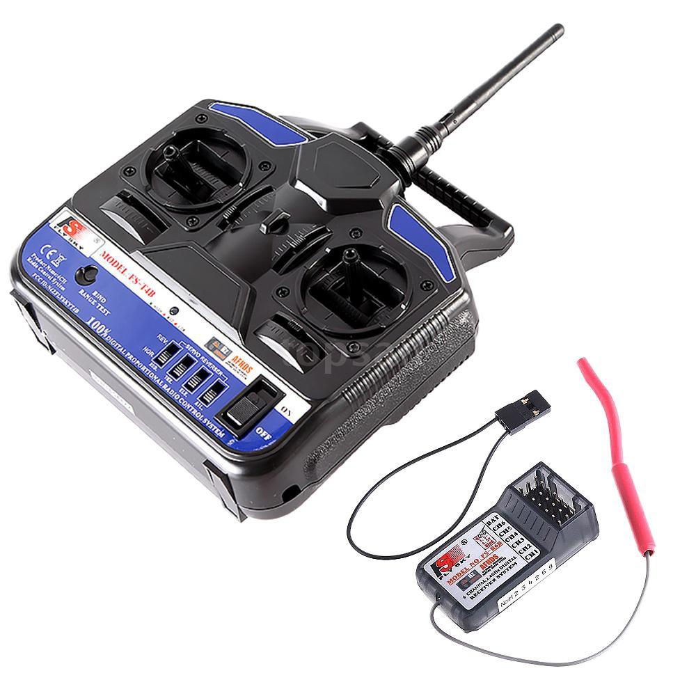 Flysky 2 4 G 4 CH Radio Model RC Transmitter & Receiver