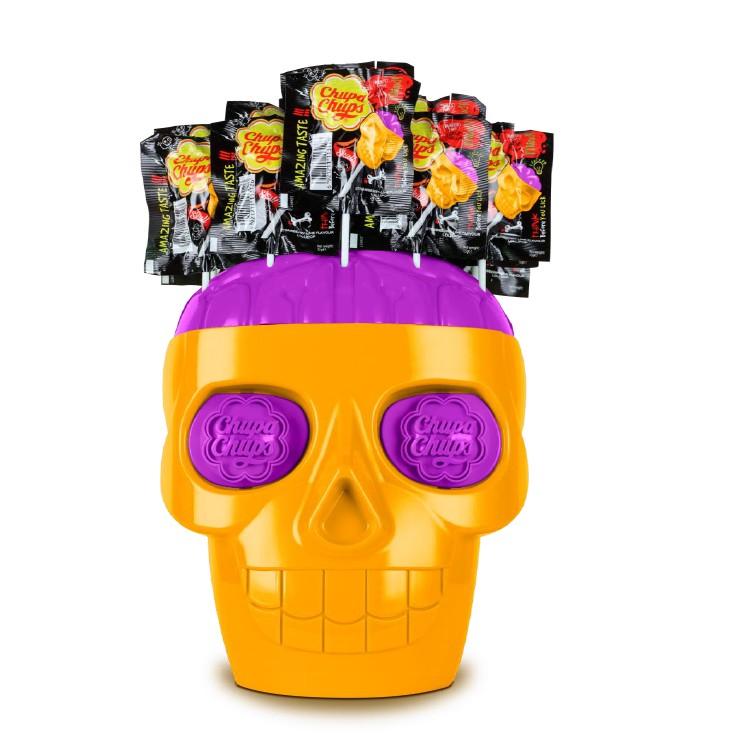 กระโหลกขนาดใหญ่ อมยิ้ม จูปาจุ๊ปส์ , ช็อกกาจุ๊บ (สีใหม่) หัวกะโหลก Chupa Chups 3D skull (จูปาจุ๊บ)