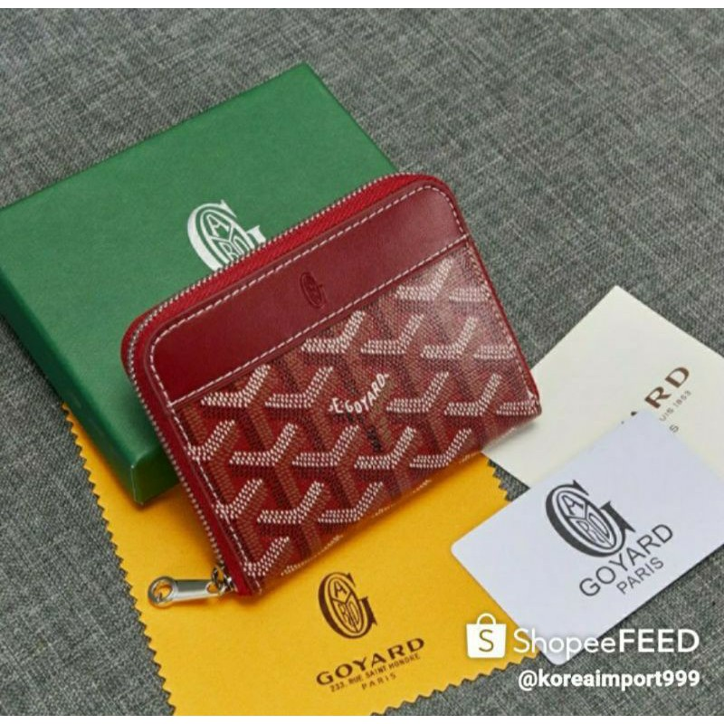Goyard Belvedere Zippy Mini Wallet