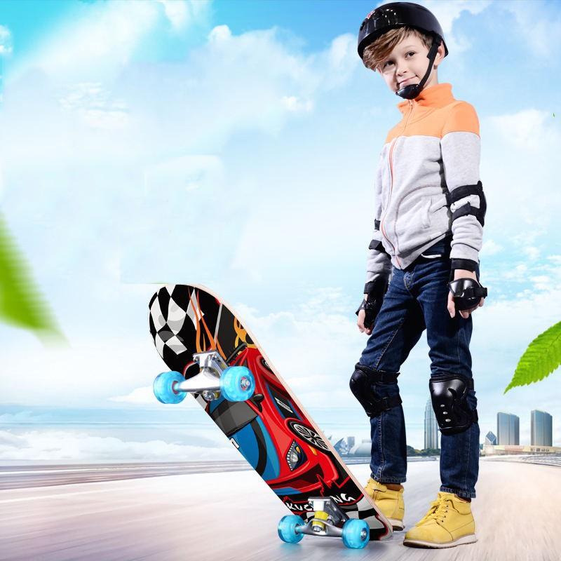 สเก็ตบอร์ดด์สี่ล้อเด็กผู้ใหญ่กระดานยาว สเก็ตบอร์ด 4 ล้อ สำหรับผู้เริ่มเล่น รุ่น แฟชั่นสเก็ตบอร์ด skateboard 60cm