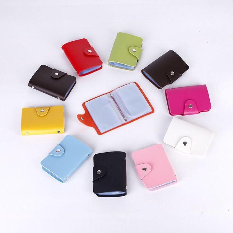 กระเป๋าใส่บัตร เครดิต กระเป๋าใส่นามบัตร ผลิตจากหนังPU สินค้ามาใหม่(W-044)(Flash Sale ขอคละสีนะคะ)