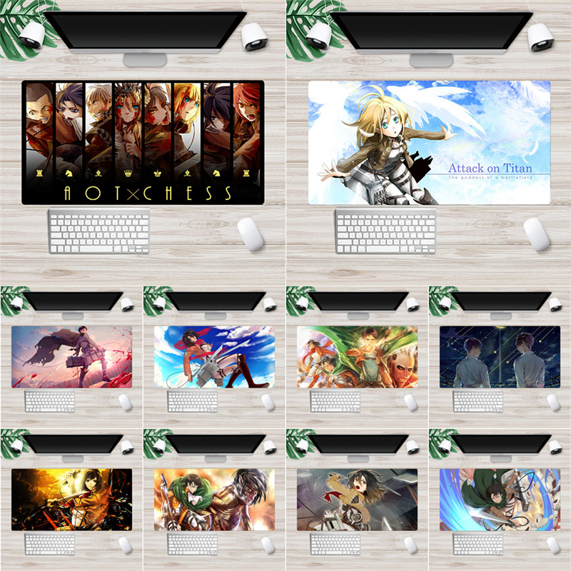 Anime Attack on Titan Mouse Pad Multimedia Computer Keyboard Non-slip Mousepad Notebook Computer Game Pad 30*60cm
